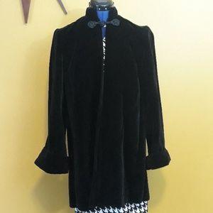 Vintage 50's velvet black coat